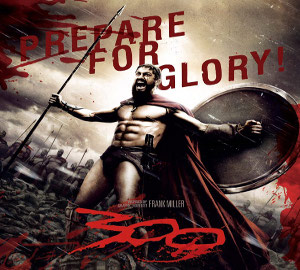 300 Leonidas great movie 2006 king Spartan soldiers vastly overpowering enemy being Persian Xerxes great army story Greece Frank Miller graphic novel remembering 1962 Spartans
