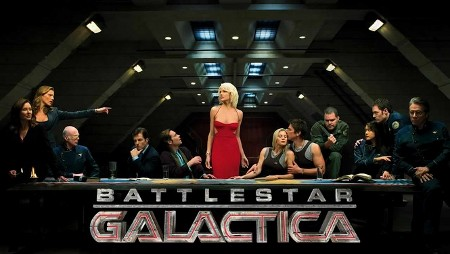 Battlestar Galactica long overdue write review American military science fiction television series franchise humble opinion crap awards cultists out there seriously consider this 