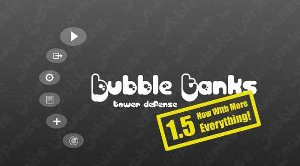 Bubble Tanks Tower Defence TD free on line game Hero Interactive upgrade levels combined mega enemies flying ghosts fast path difficult statistics displayed screen Arenas BTA addictive screen pause navigation wave complain spend mute