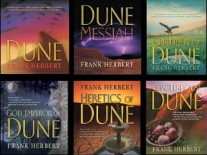Dune Saga Franklin Herbert classic science fiction novel catholic budism American author masterpiece anthology sand Arakkis sea Caladan millennia arch wonderfull world spice universe depends mind opener fastest traveler royalty religion revolution visionary