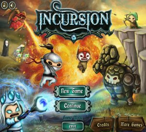 Incursion TD strategy fantasy on line game upgrades warriors upgrades Kingdom Rush Warcraft III Mithril Plating Strength Wild Moon feeling good Graphics challenging combining bonus stage spells quality option menu tower defense bored