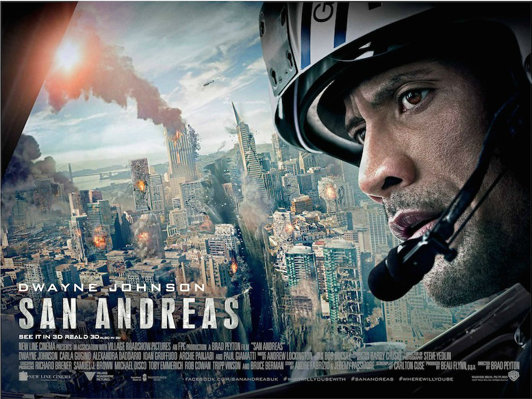 San Andreas very well made disaster movie better balanced honest directed Brad Peyton screenplay written Carlton Cuse Andre Fabrizio Jeremy Passmore receiving story credit film stars Dwayne Johnson Carla Gugino Alexandra Daddario Ioan Gruffudd Archie Panjabi Paul Giamatti Rock his ex wife daughter become separated active seismic event times Great camera effects sanity most physic issues enjoy cinema grateful probably awards attention full recommendation moment top wave just whooo brilliant natural all should see real life tips tricks increasing survival odds Destruction chaos shaking aftermath tsunami breathtaking Do watch
