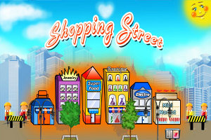 games Shopping Street tycoon like on line free cash management game retailer earning money operating shops upgraded cash flow good buildings level passed excitement player engage brain annoying