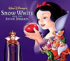 Snow White Seven Dwarfs animated film produced Walt Disney fairy tale Brothers Grimm motion picture history colour productions classics movie sleeping bed dwarf educational kiss classics productions feature