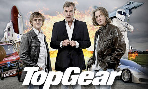 BBC series review cars english british humor Top Gear popularity Dr Who Jeremy Clarkson Richard Hammond James May presenting cars future chemistry scripts content Timeline Industry angle