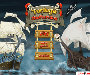 Tortuga Defense slow boring strategy unchallenging TD on line game defending treasure attacking ships tower upgraded experience waves slow down enemies passing advanced recommend